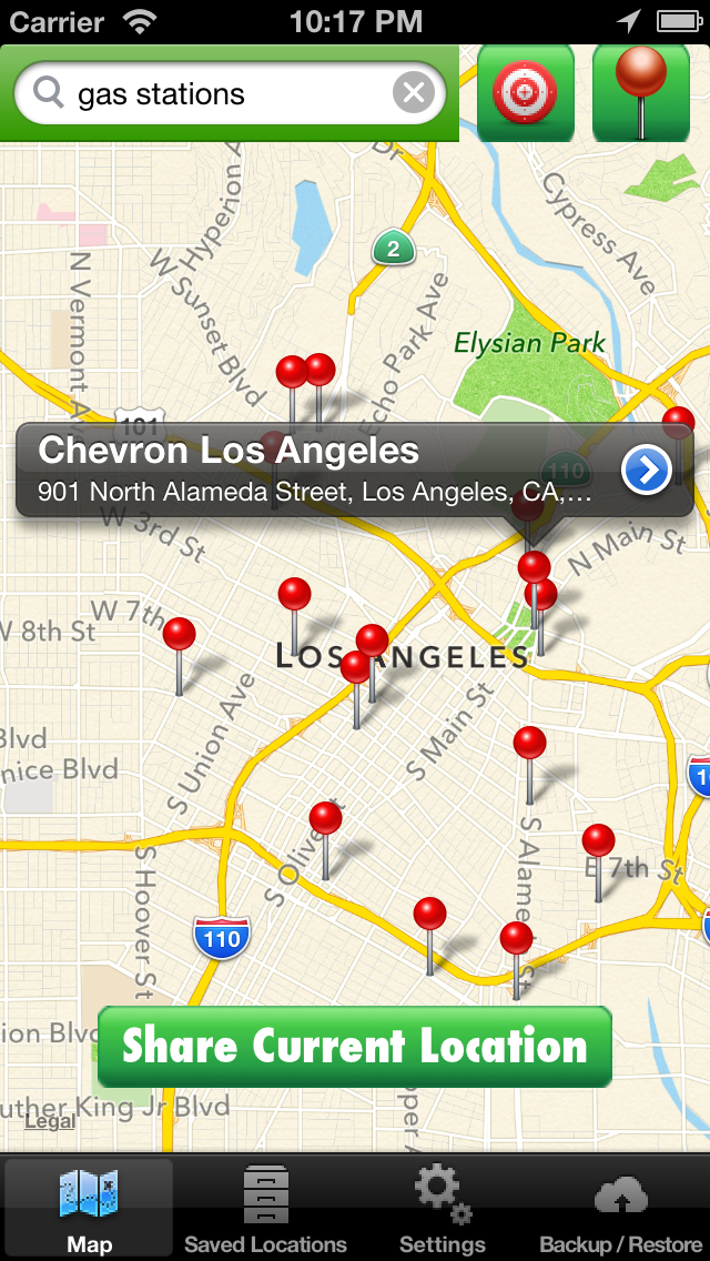 Location Manager Lite - Save, Share, Route, and Map all of your Favorite Locations! Screenshot