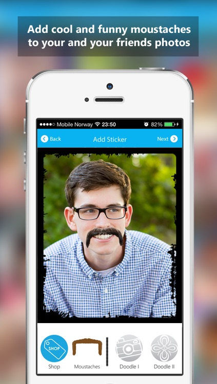 Moustachify - Free Moustache Photo Fun - Moustache stickers, beard stickers, glasses stickers and cool frames screenshot-2