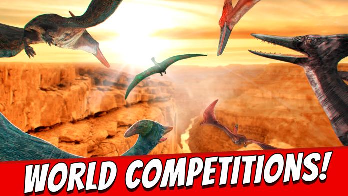 World Wild Jurassic . Dinosaur Simulator Racing Game Free 3D Screenshot