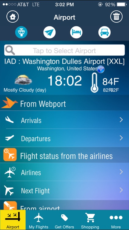 Washington Dulles Airport (IAD/BWI/DCA ) Flight Tracker radar
