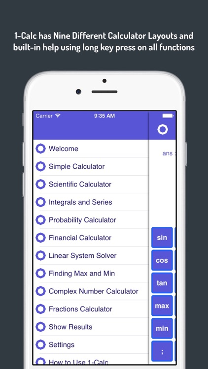 1-Calc : Graphing Financial and Scientific Calculator with Numerical Solver and Optimizer screenshot-4
