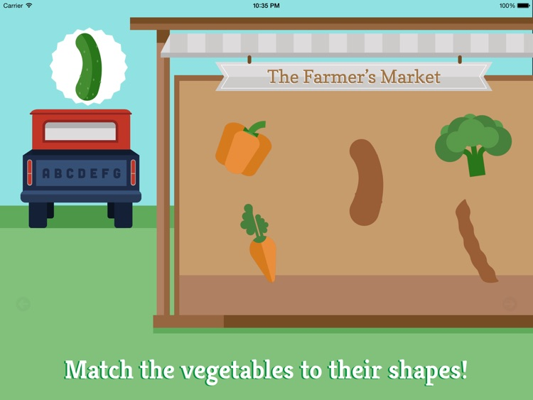 Preschool Farm Fun - Teach your child colors, counting, shapes and puzzles using yummy Vegetables! screenshot-1
