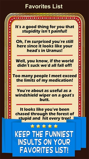 Funny nasty insults
