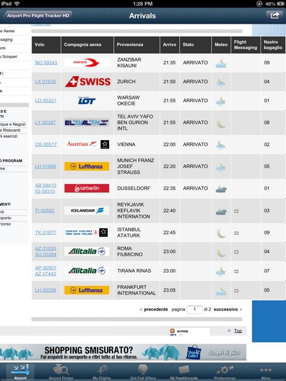Milano Malpensa Airport Pro (MXP) + Tracker HD screenshot-3