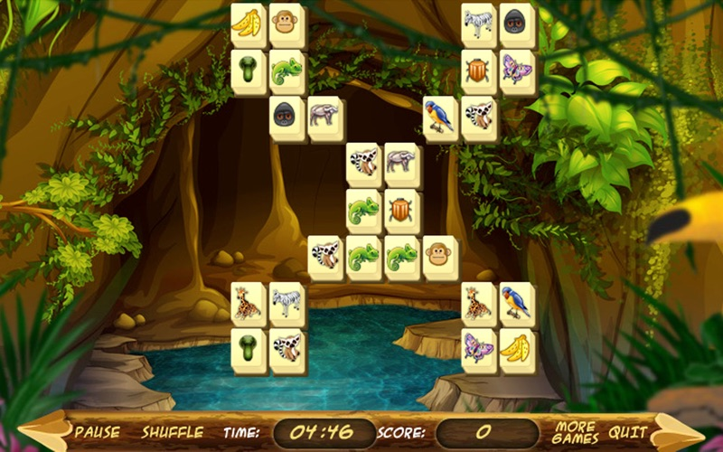 Wild Africa Mahjong screenshot 1
