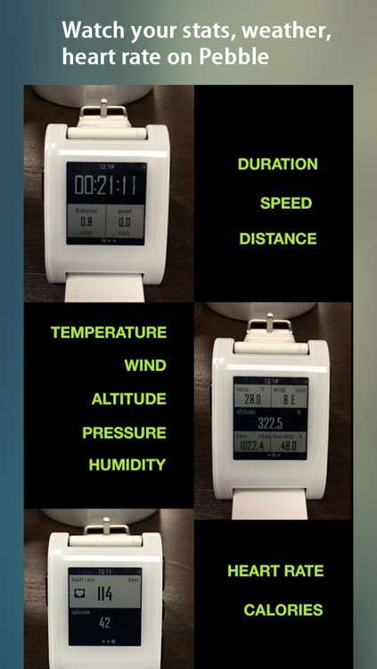 WeatherRun: Cycling, Walk, Hike Tracker, Altimeter- using Barometer, logger with Pebble Watch, Heart Rate monitor, M8 Motion Steps screenshot-4