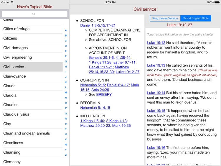 Nave's Topical Bible for iPad