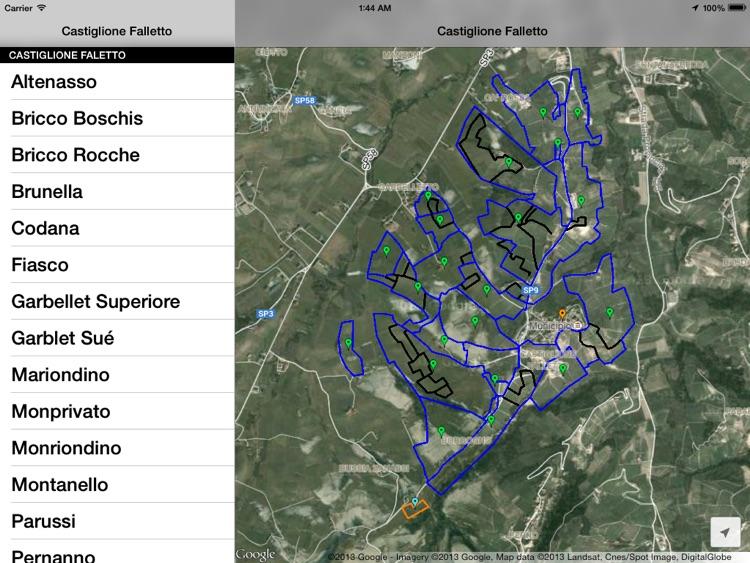 Castiglione Falletto Wine Map