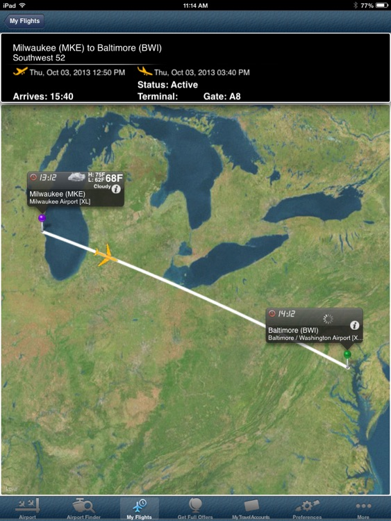 Milwaukee Airport Pro (MKE)+ Flight Tracker HD screenshot-0