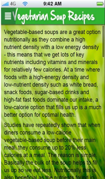 Vegetarian Soup Recipes+: Healthy Soup Recipes screenshot-3