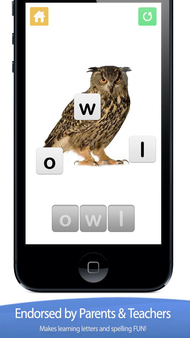 Little Speller - Three Letter Words LITE - Free Educational Game for Kids screenshot one