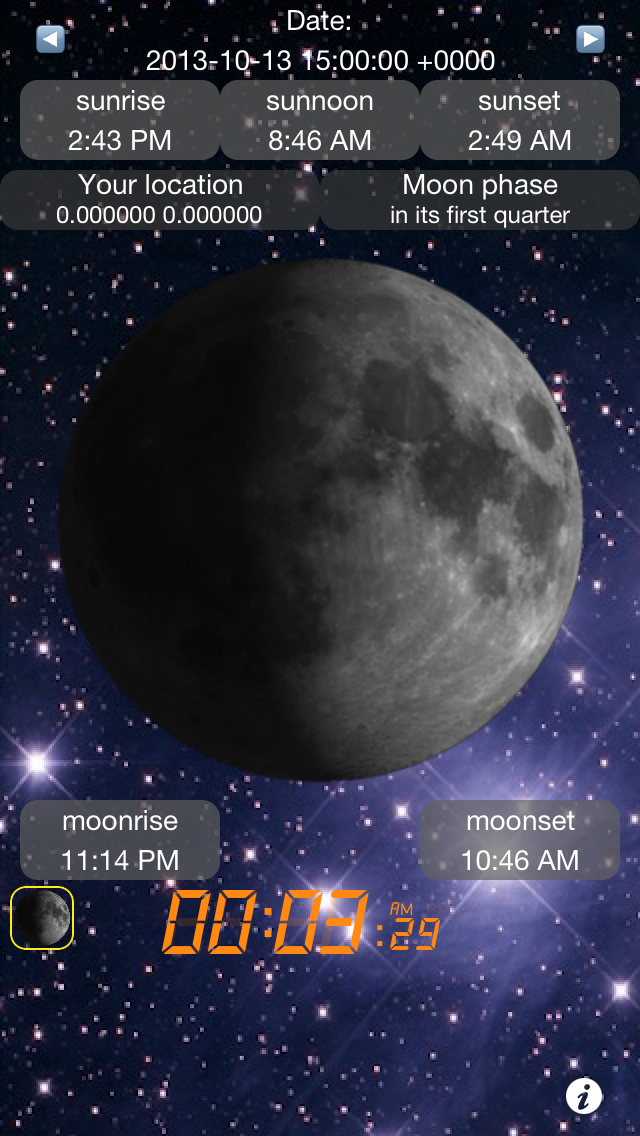 Moon Calendar Free - Sunrise/Sunset