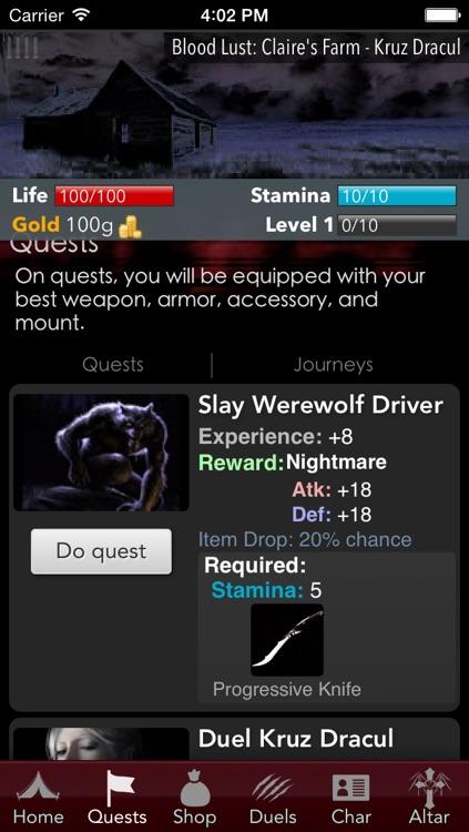 Blood Lust - Dark Vampire RPG screenshot-3
