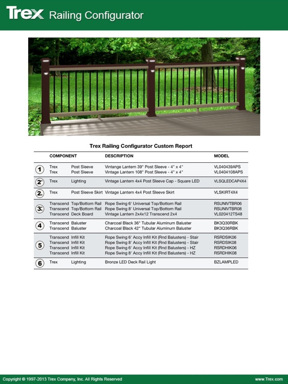 Trex Decking and Railing Visualizer Tool – visualize your Trex dream deck and outdoor living space! screenshot-4