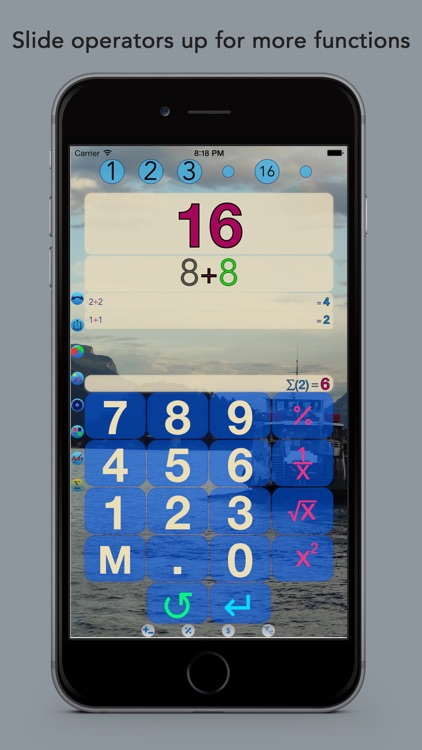 Plus 8 Calculator with Conversions and Custom Background