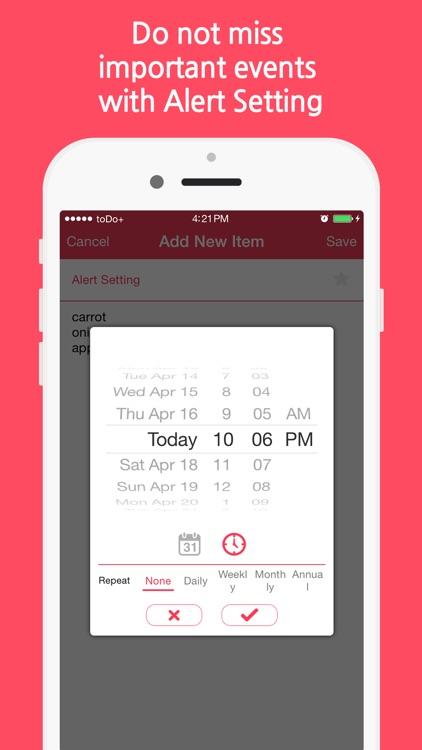 toDo+ (Tasks & Reminders, Check list) screenshot-3