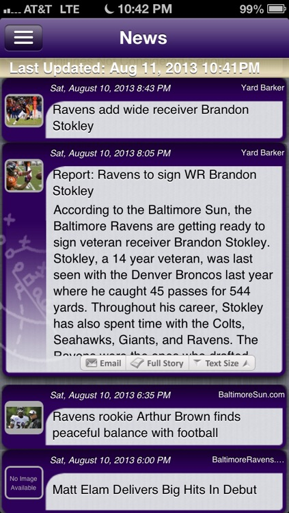 Baltimore Football Live screenshot-1