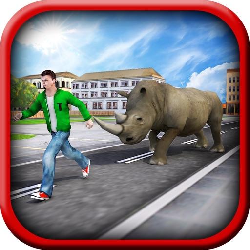 Crazy Rhino Attack 3D