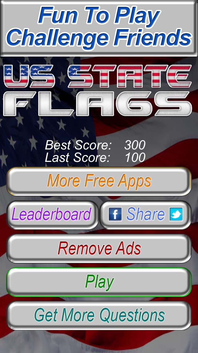 US State Flags Practice Quiz - The Free Educational United States Flag Trivia Game screenshot one