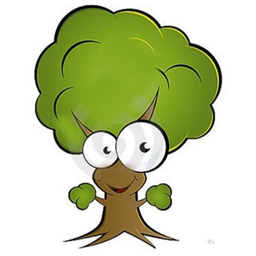 Рисунки смешных деревьев