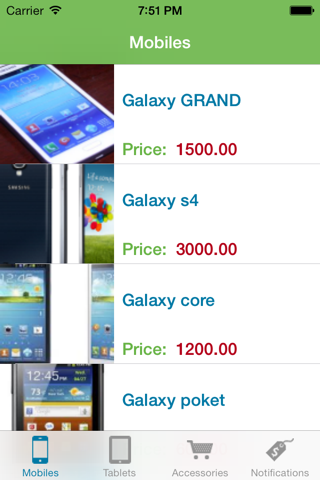 Screenshot of Connect Store App