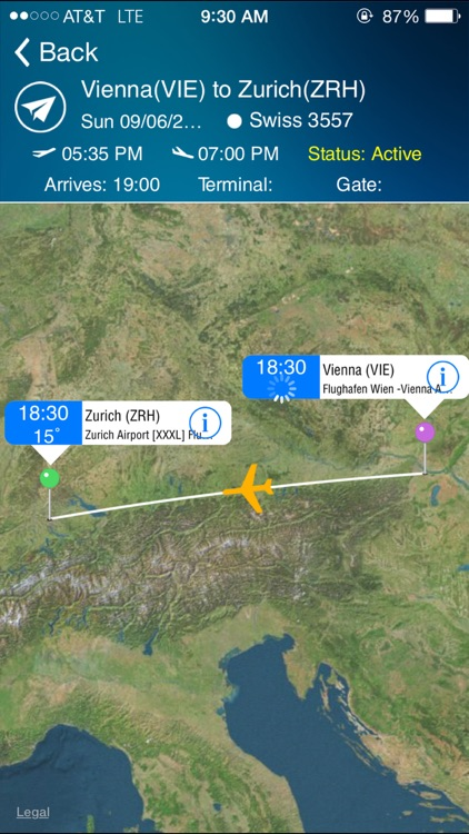 Zurich Airport (ZRH) Flight Tracker
