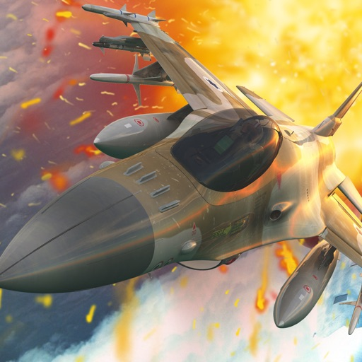 Awesome Jet Airplane War Flying Pilot Racing Game By Top Cool Army & F-16 Aircraft Games For Boys Teens And Kids Free iOS App