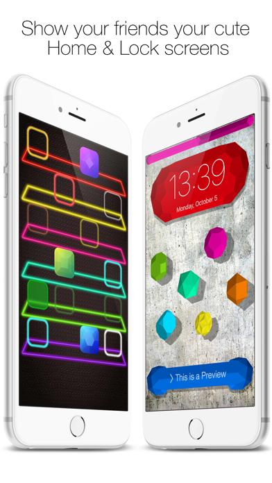 Icon Skins Builder - Personaliza con los fondos tanto la Pantalla de Inicio como la Pantalla bloqueadaCaptura de pantalla de5