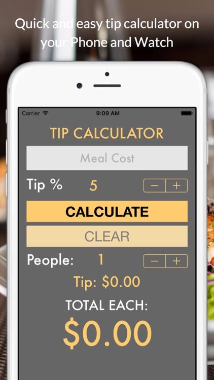 TipCalc quick tip calculator screenshot-3