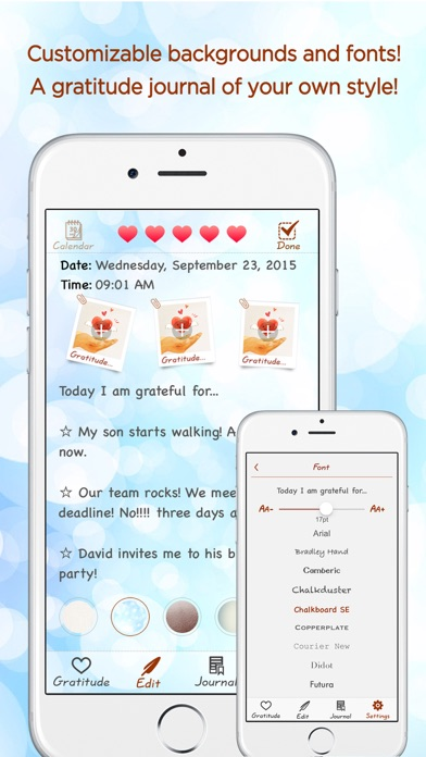 Gratitude Journal - The Life-changing App Скриншоты5