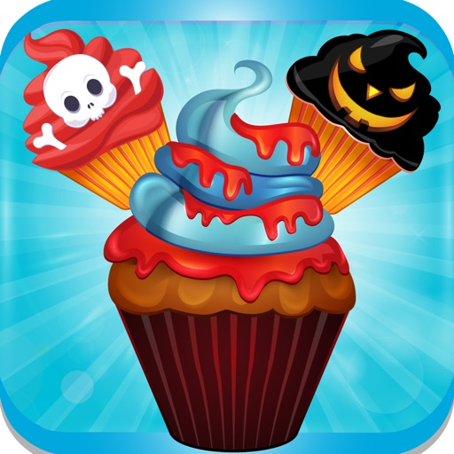 Halloween CupCake Crush Mania - free games for kids , boys and girls on halloween scary chill nights