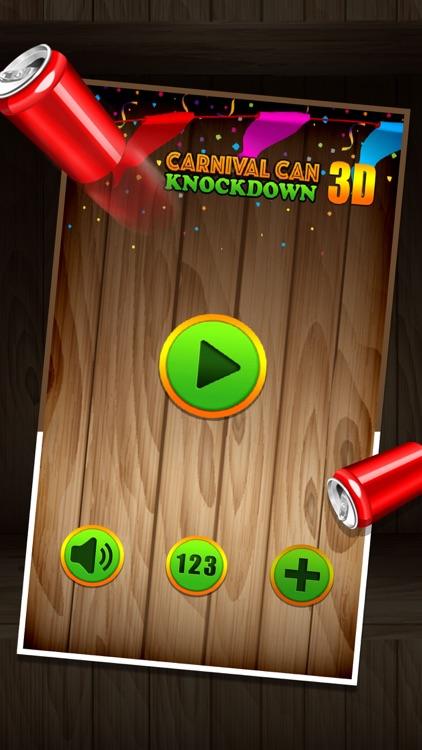 Carnival Can Knockdown 3D - Ball Toss Smash Game