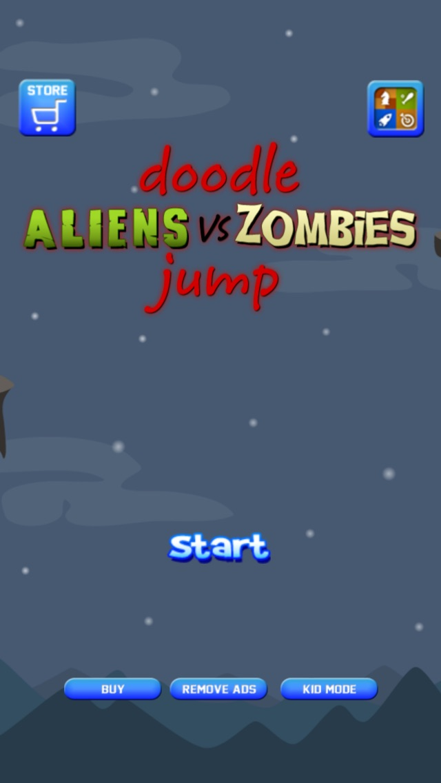 Doodle Alien vs Zombies Jump Game - Heads Up While Also Killing The Pacific Rim Plants! Screenshot on iOS