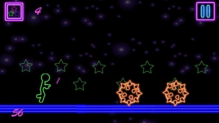 Glow Stick-Man Run : Neon Laser Gun-Man Runner Race Game For Free screenshot-4