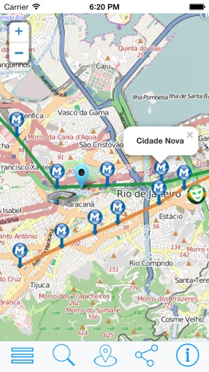 Rio Metro Rio de Janeiro offline metro map on the App Store