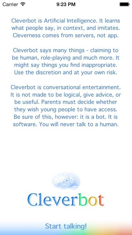 Cleverbot HD screenshot-4