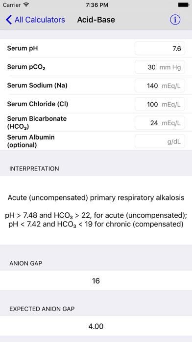 Medimath Medical Calculator review screenshots