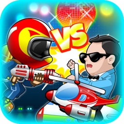 A Harlem Shake vs Gangnam Jetpack Flying Shooting - Full version