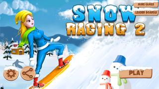 Carreras de nieve 2 : snowboarder superiores gratis los mejores juegos de arcada jinete con un fresco divertido multijugador saltos de esquí - la mejor diversión snowboard correr deporte dibujos animados App para NiñosCaptura de pantalla de1