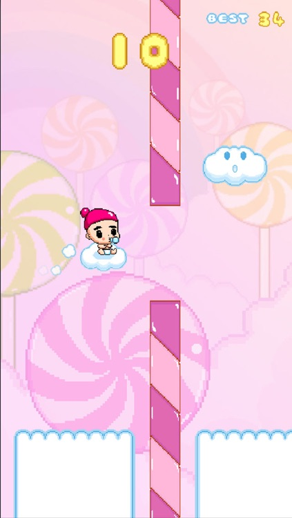 Angel Baby - Adventure of bird tiny flappy wings for free kid games screenshot-3