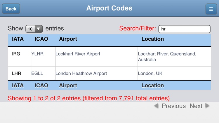 Airport Codes Database screenshot-3