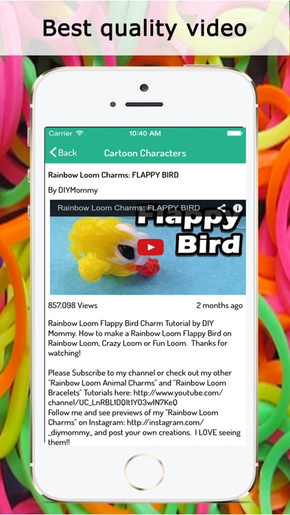 Rainbow Looms : Best Video guide for bracelets, necklace, flowers, cartoons, and many more screenshot-3