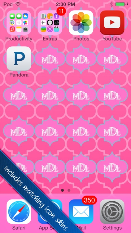 Magical Monograms FREE - Customized Designer Wallpaper, Backgrounds and Monogram Icon Skins