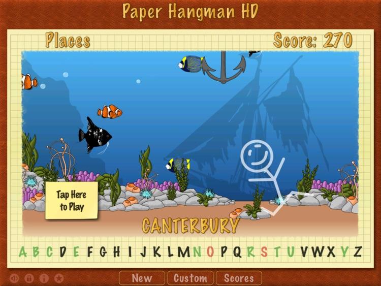 Paper Hangman HD screenshot-4