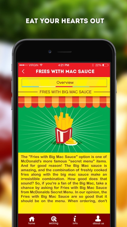 Secret Menu for McDonald's - McD Fast Food Restaurant Secrets screenshot-4