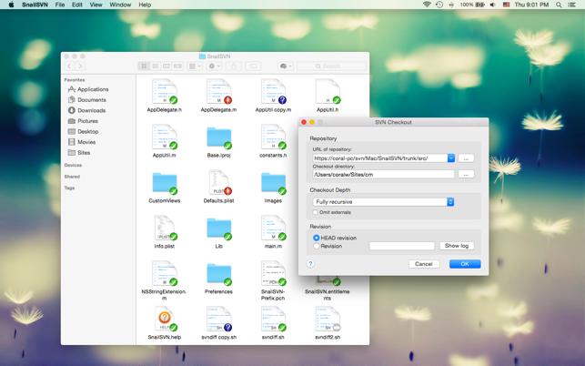 svn client mac finder integration