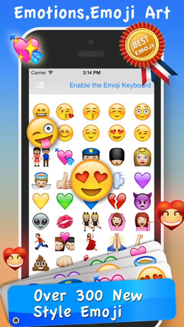 Screenshot for Emoji Emoticons & Animated 3D Smileys PRO - SMS,MMS Faces Stickers for WhatsApp in Lebanon App Store