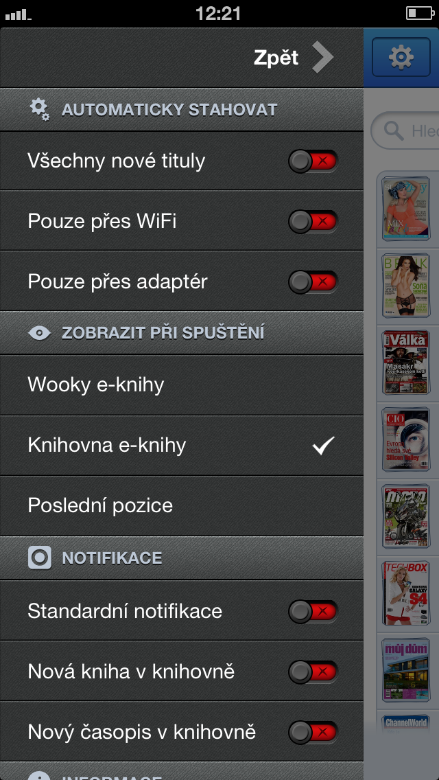 Wooky - ebook čtečka / čítačka screenshot four