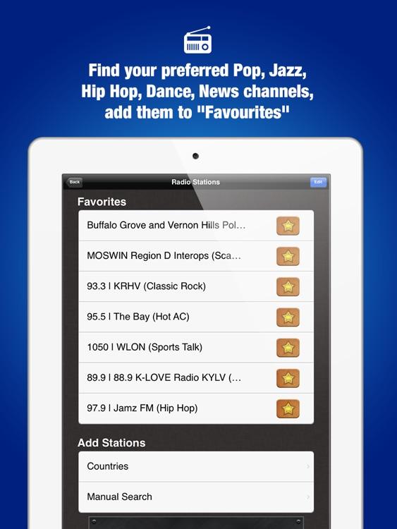 World Radio Pro HD - Live Internet Radio Stations for Music, News, Sports, Weather, Talk Shows and more! screenshot-2