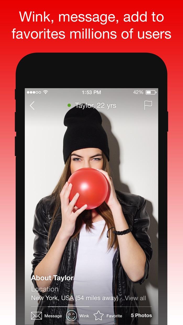 IWantU – An App Where You Can Chat & Meet Singles Screenshot